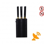 Handheld 6 Antennas Wifi + 3G 4G Cell Phone Jammer
