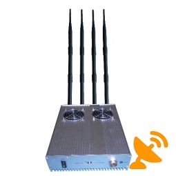 25W High Power 4 Antenna Mobile Phone Jammer Jamming - 60M