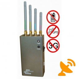 5 Band Portable GPS Cell Phone Signal Jammer