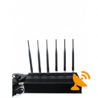 6 Antenna Mobile Phone + Wifi + RF Jammer 315MHz/433MHz