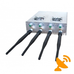 Adjustable + Remote Control GSM Signal Blocker with Cooling Fan