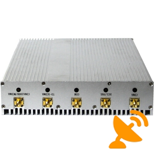 12W 8 Antenna Cell Phone & GPS & Wifi & VHF UHF Jammer Blocker - Click Image to Close