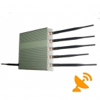 15W 6 Antenna Wifi Jammer + GPS Jammer + Cell Phone Signal Blocker