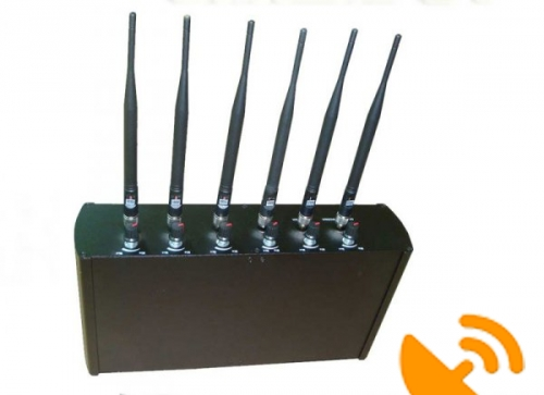 Desktop High Power GPS Wifi Cell Phone Signal Jammer [GPS,Wifi,GSM,CDMA,3G,DCS,PHS] 40 Metres - Click Image to Close