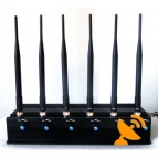 Adjustable Cell Phone Signal Blocker + Walkie Talkie VHF UHF Jammer
