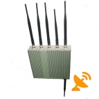6 Antenna Advanced GPS + Cell Phone Jammer [GPS,GSM,3G,DCS,PHS,Wifi]