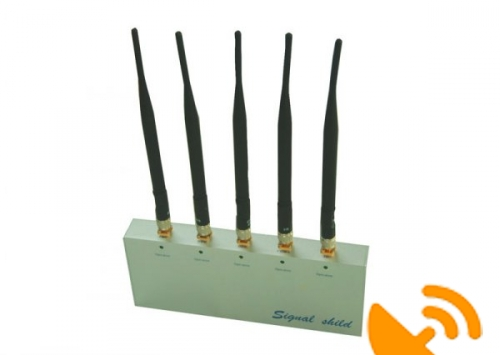 Cell Phone Jammer Jamming with Remote Control and 5 Antennas - Click Image to Close