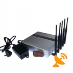 5 Band Cell Phone Signal Blocker Jammer with Remote
