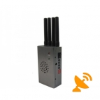 High Power Portable GPS + Mobile Phone Signal Jammer 20 Metres GPS 10 Metres Mobile Phone