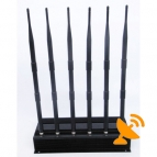 6 Antenna High Power GPS/Wifi/VHF/UHF Cell Phone Signal Jammer 50 Metres