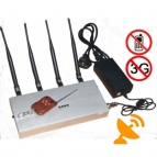 Cell Phone Signal Jammer Blocker 3G CDMA GSM DCS PHS Remote Control