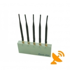 Cell Phone Jammer Jamming with Remote Control and 5 Antennas