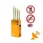Portable Wi-Fi + GPS + Mobile Phone Jammer