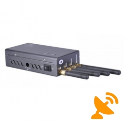 Portable GPSL1 + Wifi + GSM Cell Phone Signal Jammer 20 Metres