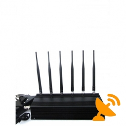 6 Antenna Wifi + RF(315MHz/433MHz) + Cell Phone Signal Jammer 40 Metres