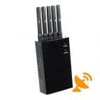 Portable Cell Phone Signal Blocker + GPS L1 L2 L5 Signal Jammer Blocker 5 Antenna