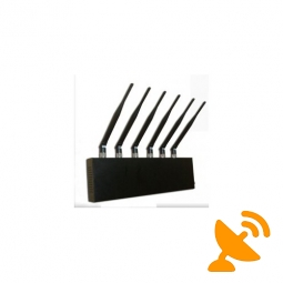 Desktop Cell Phone Blocker + GPS Jammer + Wifi Jammer 6 Antennas