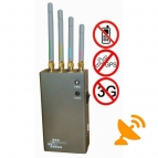 5 Band Portable Cell Phone + GPS Signal Jammer 10 Metres