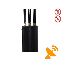 Cell Phone Jammer + GPS WIFI 6 Antennas 6 Watt