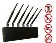 GPS + Wi Fi + Cell Phone Signal Blocker Jammer 6 Antenna - Click Image to Close