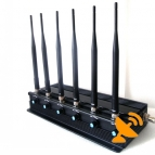 Adjustable 15 W 6 Antenna Cell Phone Signal Blocker + Wifi Jammer + UHF Jammer