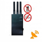 5 Band Portable GPS + Cell Phone Signal Blocker Jammer 10 Metres