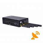 Portable Cell Phone + Wifi(2400 ~ 2500Mhz) Signal Blocker Jammer 15 Metres