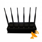 6 Antenna High Power Cell Phone + Wifi Signal Blocker Jammer 50 Metres