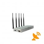 Desktop Cell Phone Signal Blocker + UHF Audio Jammer 5 Band